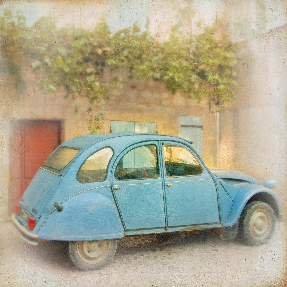 Paris Citroen French Vintage Retro Car Photograph Art Print
